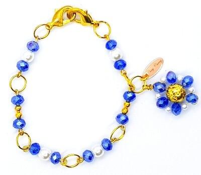 Bracelet & Face Mask Extender Dual Function (Sapphire - Amethyst Diamond Beads)