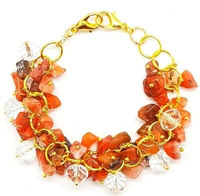 Bracelet & Face Mask Extender Dual Function (Areum - Red Quartz & Crystal Beads)