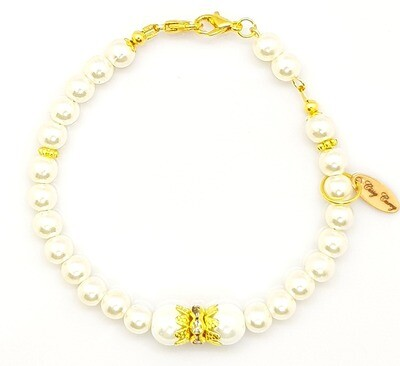 Dual Function Face Mask Extender & Bracelet (Momoka Pearl Beads)