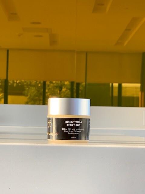 CBD Intensive Relief Rub 150 mg with Emu Oil