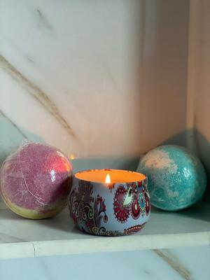 Hemp Envy Co Bath Bombs & Candle set