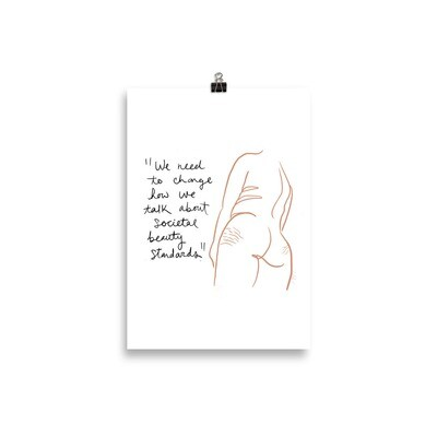 F**k Beauty Standards Print