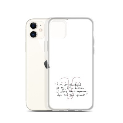Thankful White iPhone Case
