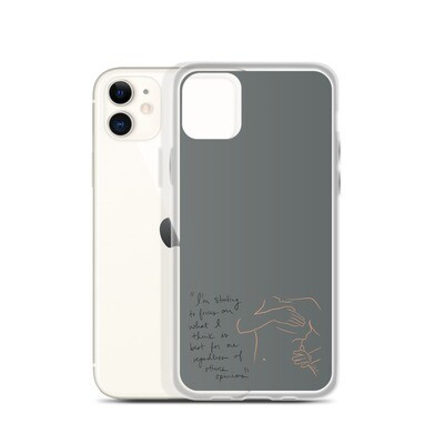 Best for Me Grey iPhone Case