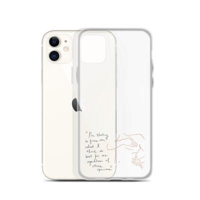 Best for Me Clear iPhone Case