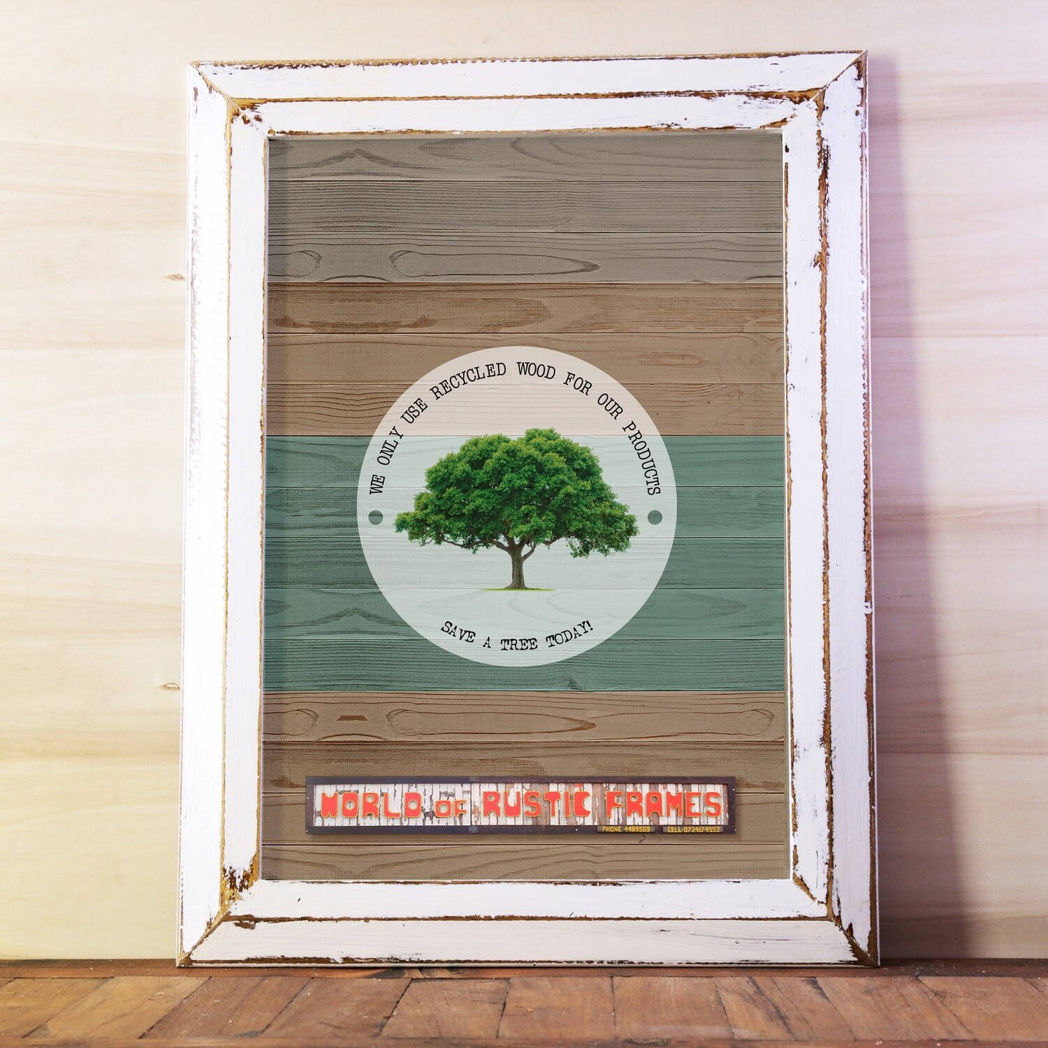 A2 Rustic wooden frames - 42 cm x 59.4 cm Photo size (16.53 x 23.39 inches)