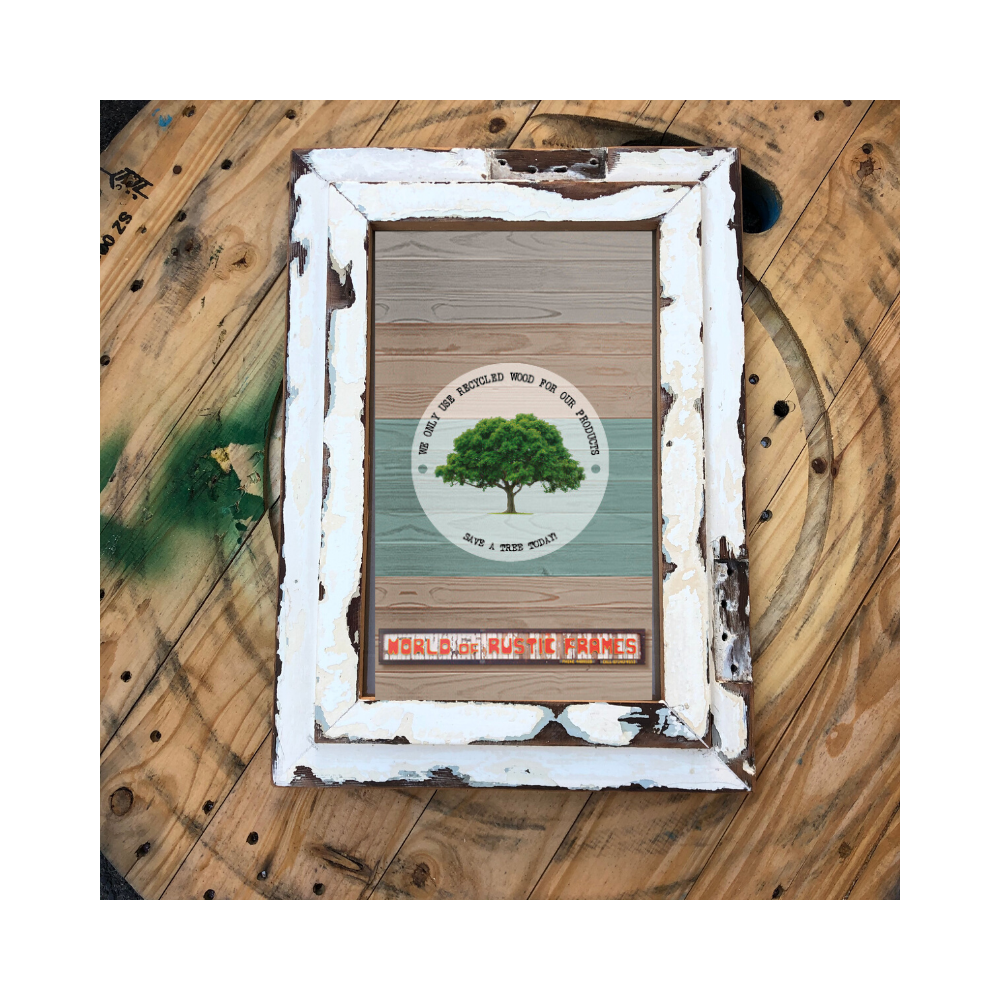 A3 Vintage rustic wooden frame - 30 cm x 42 cm (11-3/4 x 16-1/2 inches)