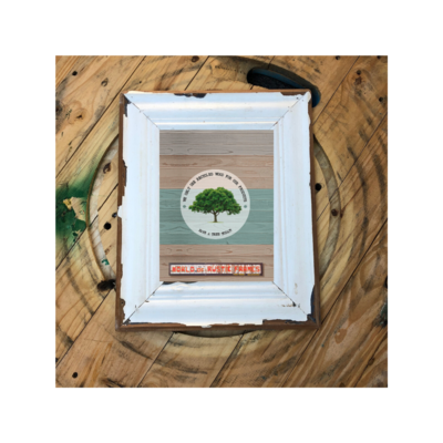 A4 Vintage cornice wooden frame - 21 cm x 30 cm (8-1/4 x 11-3/4 inches)
