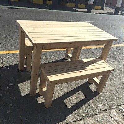 4 Seater table and bench set