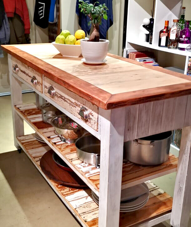 Rustic kitchen server