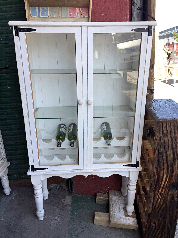 Glass and wine display cupboard