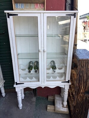 Glass and wine display cupboard