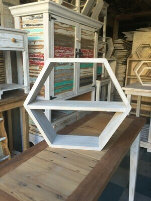 XL Hexagonal wall display shelf