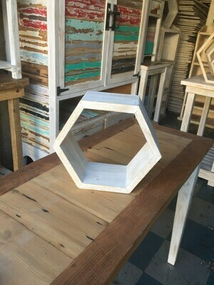 Small hexagonal display shelf