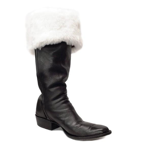 Santa Boot w/Fur Cuff
