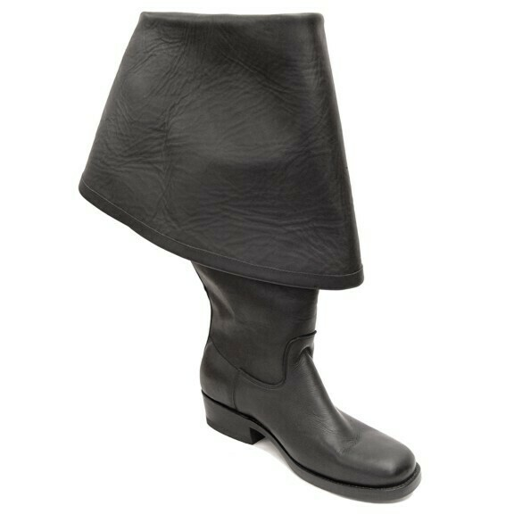PIRATES II TURNER SMOOTH BLACK BOOTS