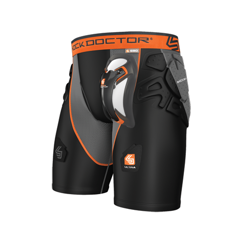 SHOCK DOCTOR ULTRA SHOCKSKIN HOCKEY SHORT WITH ULTRA CARBON FLEX CUP