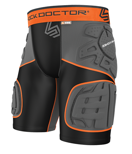 SHOCK DOCTOR ULTRA SHOCKSKIN 5-PAD EXT THIGH IMPACT SHORT