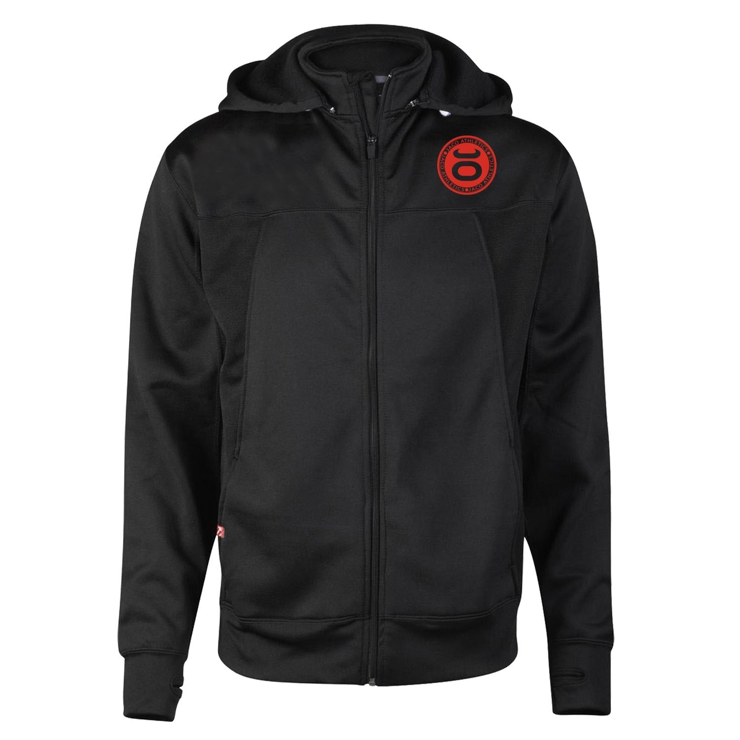 JACO Athletics Team Convertible Hoodie/Jacket (Black/Red)