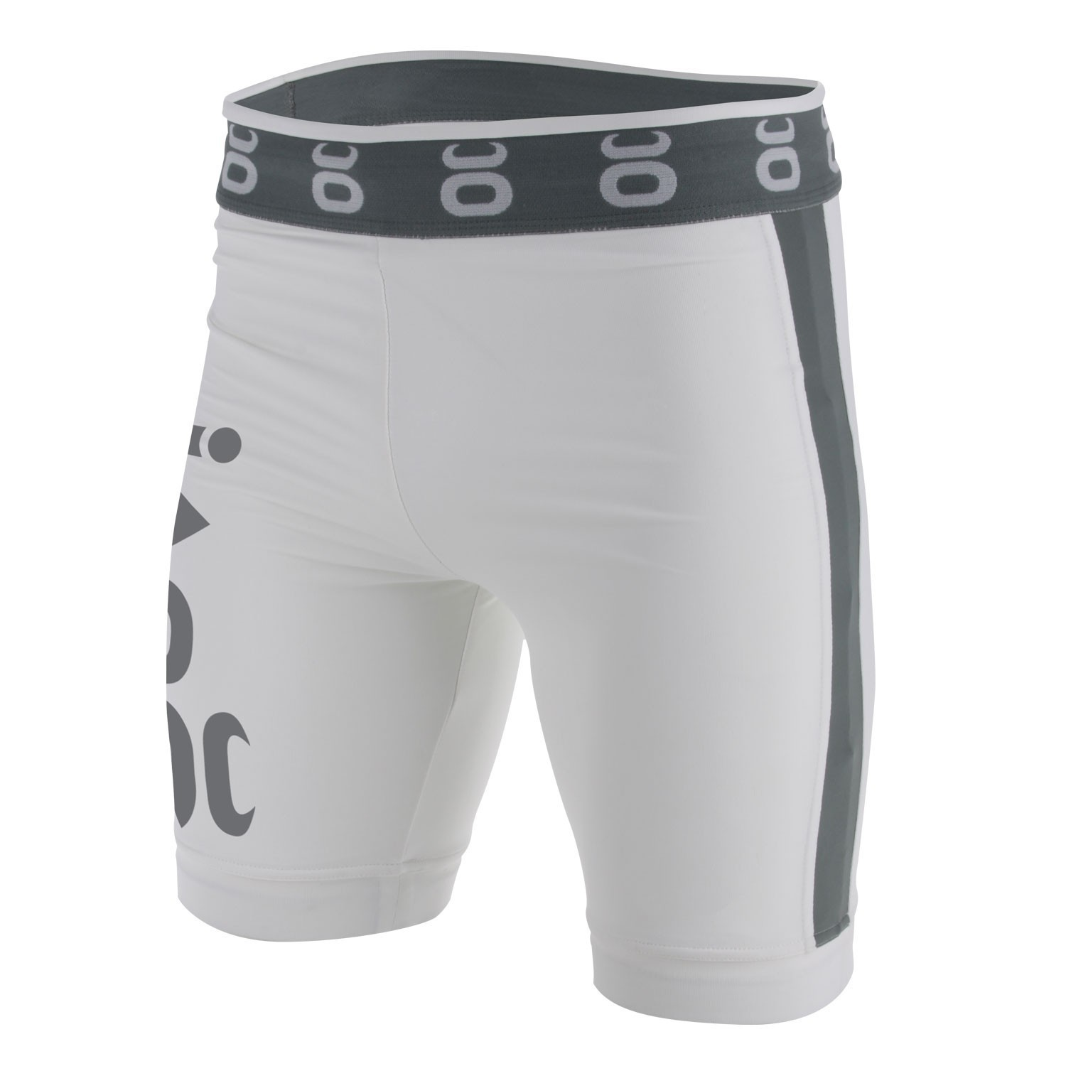 Vale Tudo Fight Shorts - Long (White/Silverlake)