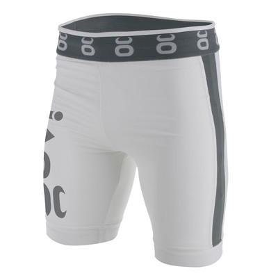 Vale Tudo Fight Shorts - Long (White/Silverlake)