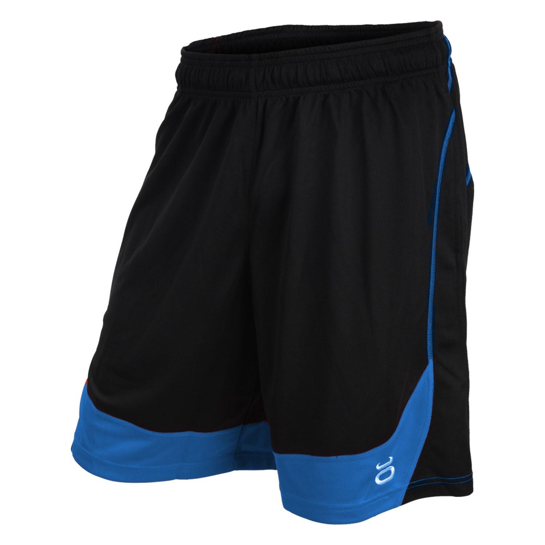 Twisted Mock Mesh Shorts (Black/Sky)