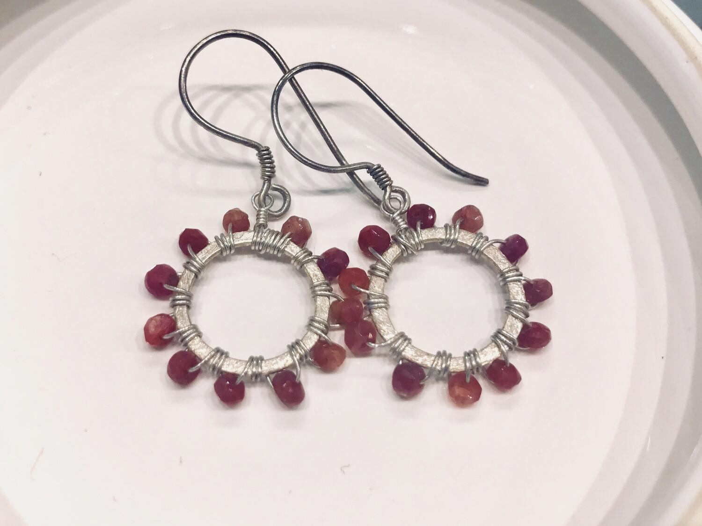 Resplendent Ruby Earrings
