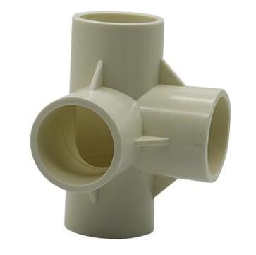 PVC Connector - 4 Way Elbow - 32mm