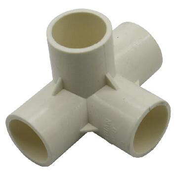 PVC Connector - 4 Way Elbow - 20mm