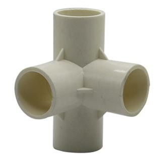 PVC Connector - 4 Way Elbow - 25mm