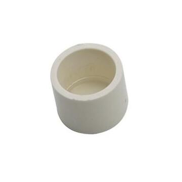 PVC Connectors - End Cap - White - 20mm