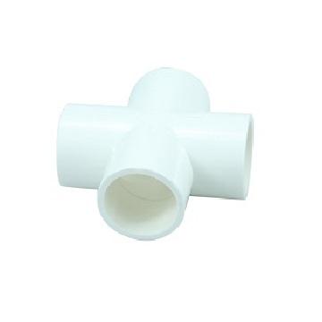 PVC Connector - 4 way cross - 25mm