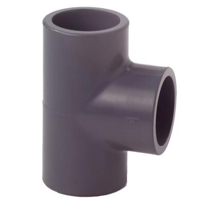 PVC Connector - T-Piece 32mm - Grey