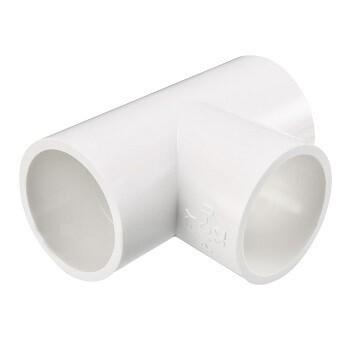 PVC Connector - T-Piece 32mm - white