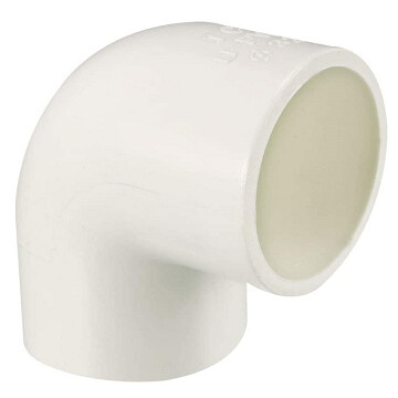 PVC Connector - 90 degree elbow 32mm - white