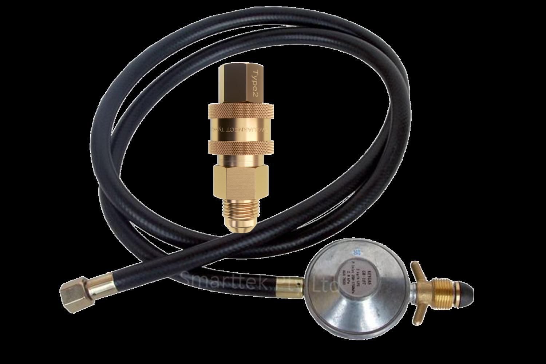 Smarttek Gas Hose Regulator and Gas Quick Connect Pack