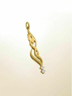 Custom 18K Gold & Diamond Name Necklace