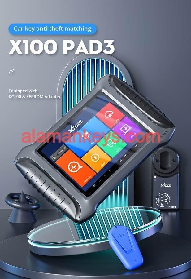 Programador de llaves XTOOL X100 PAD3 para Toyota, inmovilizador de llaves perdidas, ajuste de odómetro OBD2, herramienta de diagnóstico de coche