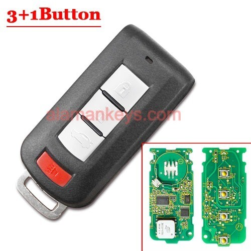 3+1 Panic 315MHz Smart Remote Key PCF7952 Chip for Mitsubishi Mirage Outlander FCC: OUC644M-KEY-N