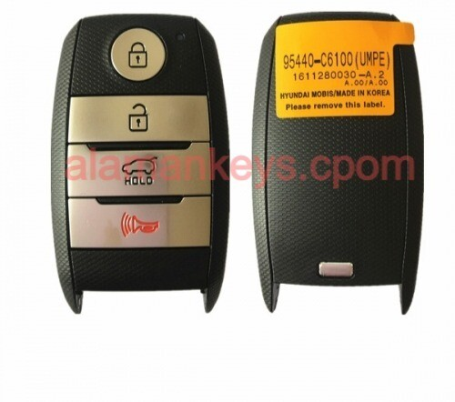 CN051047 Genuine KIA Sorento Genuine Smart Key Remote 2017 4 Buttons 433MHz 95440-C6100