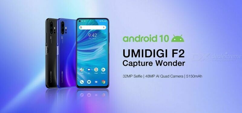 UMIDIGI F2 Quad Camera (6 GB RAM DDR4 & 128 GB ROM) Android 10 (Unlocked Cell Phone)