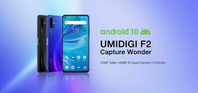 UMIDIGI F2 Quad Camera (6 GB RAM DDR4 & 128 GB ROM) Android 10 (Unlocked Cell Phone)