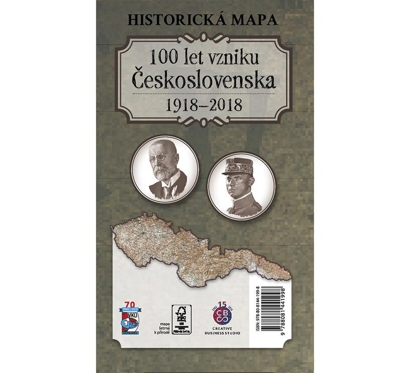 Historická mapa 100 let vzniku Československa