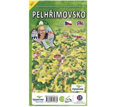 Pelhřimovsko - nástěnná mapa