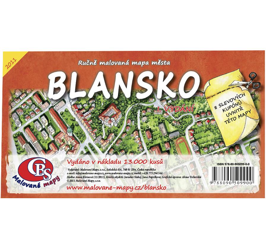 Mapa Blanska