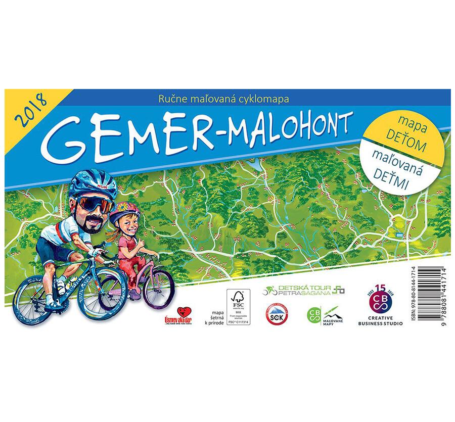Malovaná cyklomapa Gemer - Malohont deťom