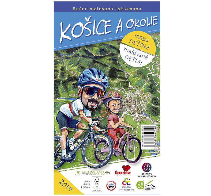 Malovaná cyklomapa Košice a okolie deťom