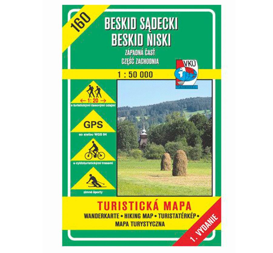 TM 160 - Beskid Sadecki, Beskid Niski - západná časť, czesc zachodnia (SK+PL)