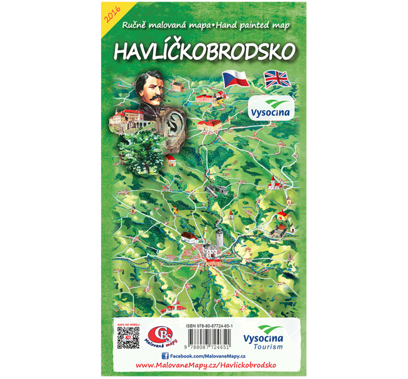Havlíčkobrodsko - nástěnná mapa