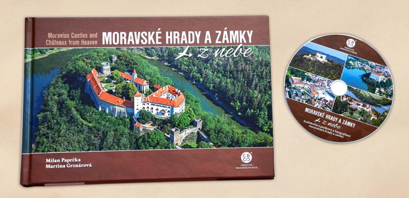 Moravské hrady a zámky z nebe + audiokniha na DVD